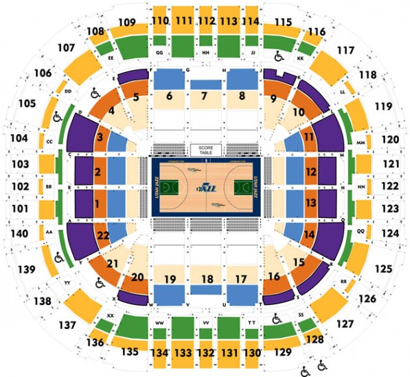 Energy Solutions Arena Seat Map Submited Images